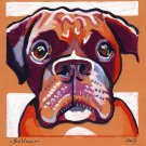 """Boxer Dog"" Watercolor Painting Print"