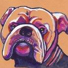 """Bulldog"" Watercolor Painting Print"