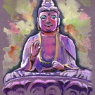 """Saipan Buddha"" Watercolor Painting Print"