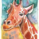 """Giraffe"" Watercolor Painting Print"