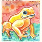 """Rain Forest Frog"" Watercolor Painting Print"