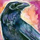 """Raven"" Watercolor Painting Print"