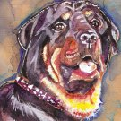 """Rottweiler (Malika)"" Watercolor Painting Print"