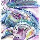 """American Alligator"" Watercolor Painting Print"