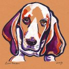 """Basset Hound""  Watercolor Painting Print"