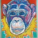 """Super Chimp"" Watercolor Painting Print"