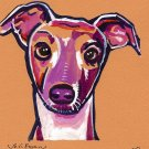 """Greyhound"" Watercolor Painting Print"