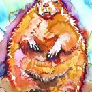"""Groundhog"" Watercolor Painting Print"
