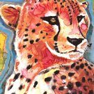 """Cheetah"" Watercolor Painting Print"