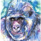 """Gorilla"" Watercolor Painting Print"