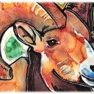 """Bighorn Sheep"" Watercolor Painting Print"