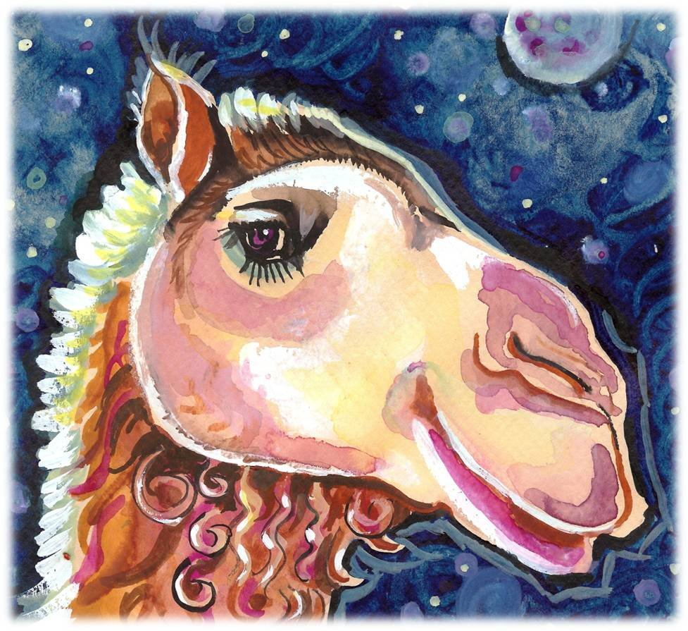 """Camel"" Watercolor Painting Print"