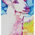 """Lamb"" Watercolor Painting Print"