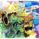"""""""Honeybee"""" Watercolor Painting Print"""