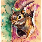 """Chipmunk"""" Watercolor Painting Print"