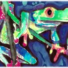 """Red-Legged Tree Frog"" Watercolor Painting Print"