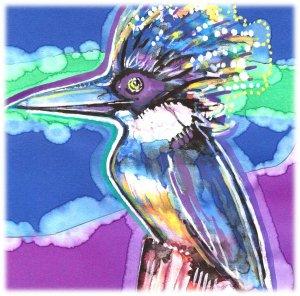 """Kingfisher"" Watercolor Painting Print"