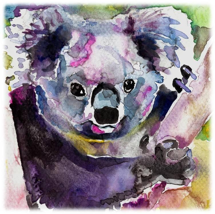 """Koala"" Watercolor Painting Print"