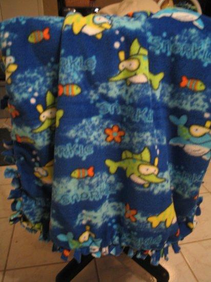 Fish Fleece Baby Blanket JUST REDUCED