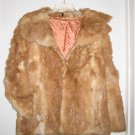 Rare Unique Apricot colored Real Ladies Rabbit Fur Coat REDUCED $10