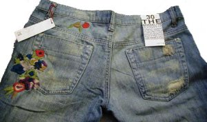 NWT Joe's Socialite Jeans Embroidery Size 32 LOOK