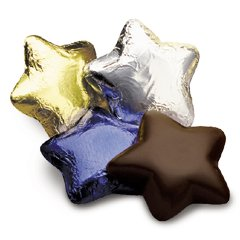 Foil Wrapped Dark Chocolate Stars case of 100 Corporate Tradeshow Promotion Giveaways