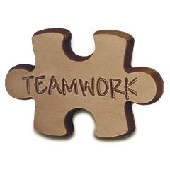 50 Puzzle Shape Teamwork Engraved Chocolate Corporate Tradeshow Giveaways