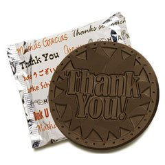 50 THANK YOU Engraved Chocolate Covered Cookies Corporate Tradeshow Giveaways