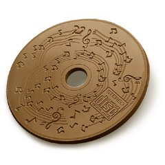20 Musical notes Engraved Chocolate CD's  Corporate Tradeshow Giveaways