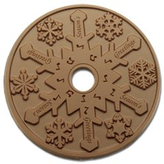 20 Snowflake Holiday Engraved Chocolate CD's  Corporate Tradeshow Giveaways