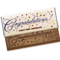 50 Congratulations Engraved Chocolate Bars for Clients or Employee Incentive