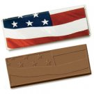 50 Stars and Stripes Flag Engraved Milk Chocolate Bars for Clients or Tradshow Give-a-ways