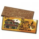 50 Happy Halloween Engraved Milk Chocolate Bars for Clients or Party Guests
