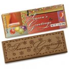 50 SEASONS GREETINGS Engraved Milk Chocolate Bars for Clients or Party Guests