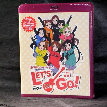 K-ON Live Come with Me Japan 2 Blu-Ray Anime set NEW