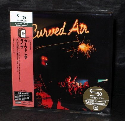CURVED AIR LIVE Japan SHM CD MINI LP Sleeve UICY-93831 NEW