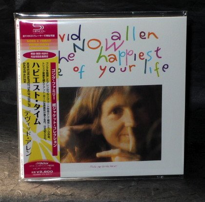 GONG DAEVID ALLEN NOW IS HAPPIEST TIME OF LIFE Japan CD LP Sleeve VICP-70078
