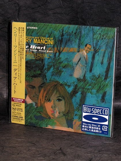 Henry Mancini Dear Heart Blu-Spec CD mini LP SOUNDTRACK Japan CD SICP-20259 NEW