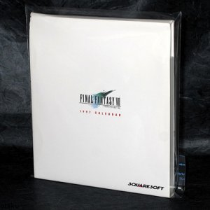 Final Fantasy VII 1997 Rare Squaresoft Japan Calendar