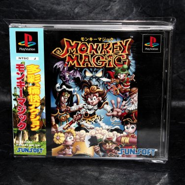 Monkey Magic PS1 PS One Japan Original Sunsoft Action Game
