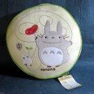Totoro Studio Ghibli Anime Round Cute Soft Embroidered Cushion Japan NEW