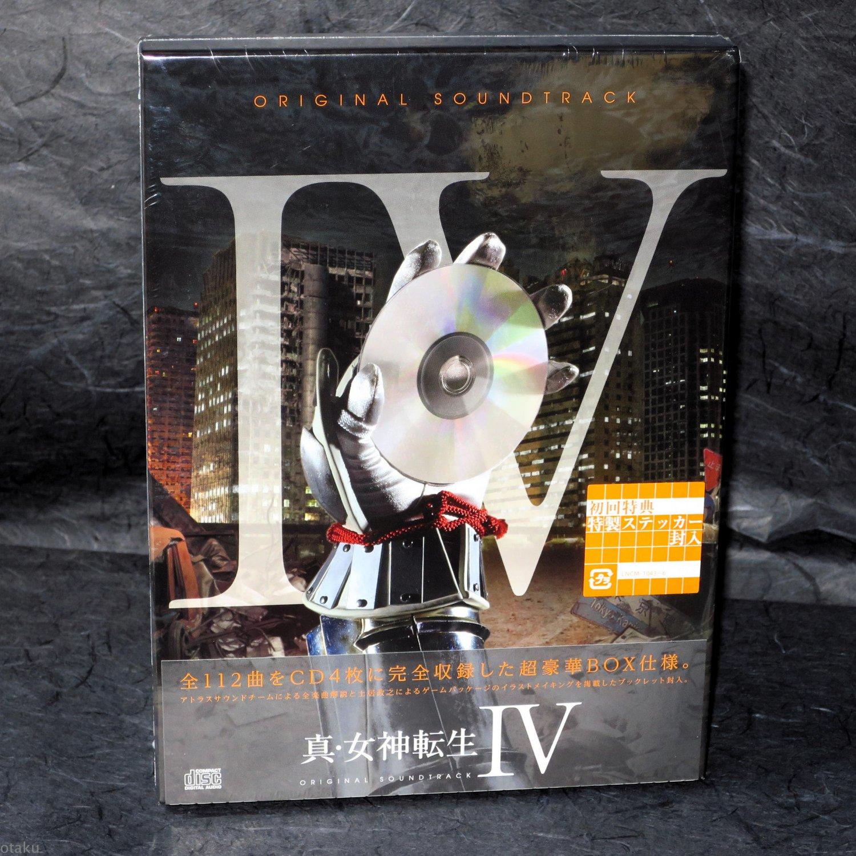 Shin Megami Tensei IV Original Soundtrack 3DS Game Music 4 CD Box Set Japan NEW