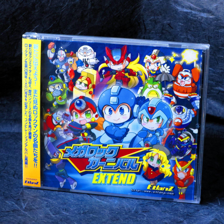 Rockman Mega Man Japan Mega Rock Carnival Extend Game Music Doujin CD NEW
