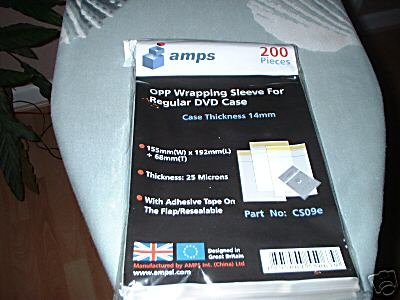 DVD Case Wraps pack of 200 in sealed pack