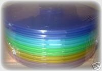 20 multi coloured c-shell clam cases for cd/dvd