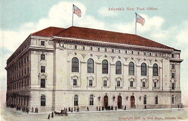 Atlanta's New Post Office at Georgia GA, 1907 Vintage Postcard - 3555