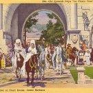 Old Spanish Days La Fiesta Time in Santa Barbara California CA, 1939 Curt Teich Postcard - 3561