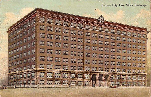 Kansas City Live Stock Exchange in Missouri MO, 1910 Vintage Postcard - 3563