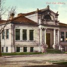 East Side Library in Waterloo Iowa IA, 1910 Vintage Postcard - 3571