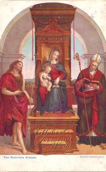 The Madonna Ansidei by Raphael Sanzio, Raphael Tuck & Sons Vintage Art Postcard - 3574